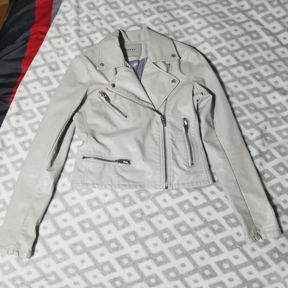 BLANKNYC Gray Faux Leather Jacket